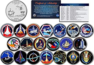 SPACE SHUTTLE PROGRAM MAJOR EVENTS Colorized FL Quarters U.S. 20-Coin Set NASA