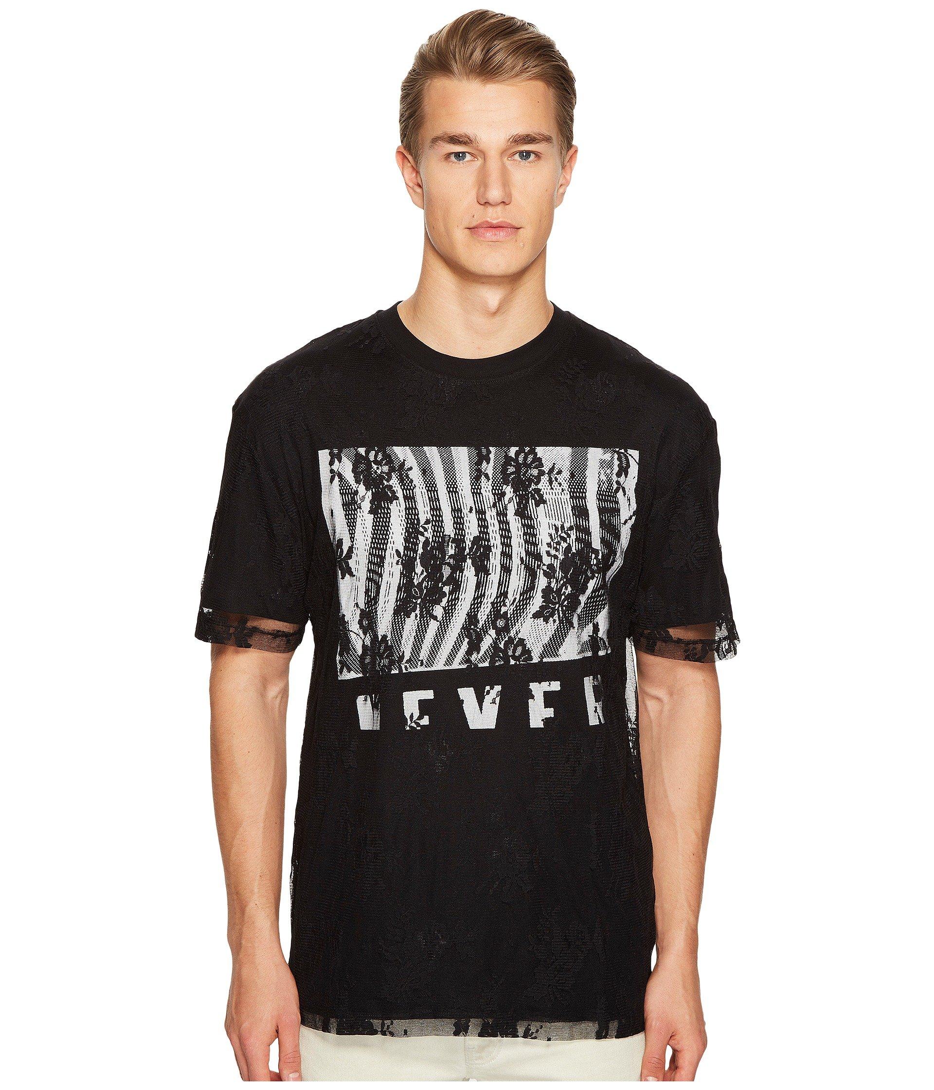 oscuro estampado con de negro Mcq en Mcqueen By hombros Alexander más Camiseta caídos un xqwqS1pUO