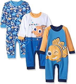 Baby Boys' Finding Nemo Coveralls (Pack of 3)