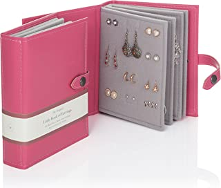 Large Size - Little Book of Earrings - A Small Book for Keeping Your Earrings Safe! (Pink)