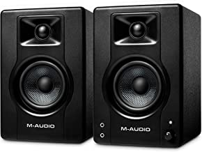 M-Audio BX3-120-Watt Powered Desktop Computer Speakers/Studio Monitors for Gaming, Music Production, Live Streaming and Po...