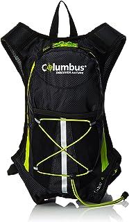 COLUMBUS Lake 4 Mochila de hidratación, Unisex Adulto, Negro/Verde Fluorescente, Talla Única
