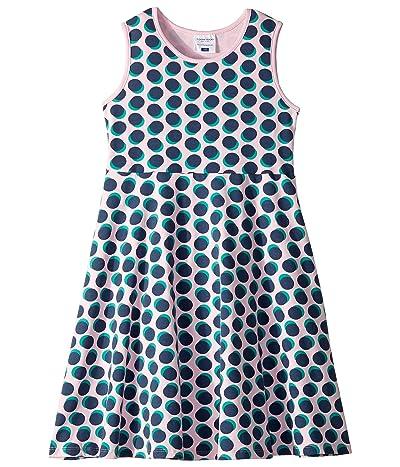 Toobydoo Skater Dress (Toddler/Little Kids/Big Kids) (Navy Polka Dot) Girl
