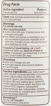 pHisoderm Anti-Blemish Body Wash for oily and acne-prone skin, 10 FL OZ, with 2% salicylic acid and naturally soothin...