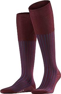 FALKE Kniestrümpfe Shadow Baumwolle Herren schwarz blau viele weitere Farben verstärkte Kniesocken Muster atmungsaktiv lang bunt hoch und warm gerippt gestreift 1 Paar