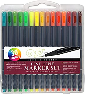Beauenty Fine-Line Marker Set (30 vibrant colors, 0.4mm tips) (Perfect for Art Projects, Bullet Journaling, Coloring, and ...