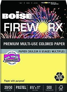 Boise Fireworx Color Copy/Laser Paper, 20 lb, Letter Size (8.5 x 11), Crackling Canary, 500 Sheets (MP2201-CY)