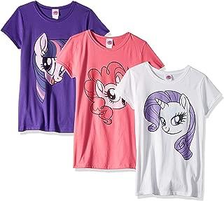 My Little Pony Pinki Pie Rarity Twilight Sparkle Big Face 3-Pack Tee Bundle