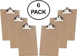 "Acrimet Clipboard Memo Size A5 (9 1/16"" x 6 5/16"") Mini Jumbo Clip Hardboard (6 Pack)"