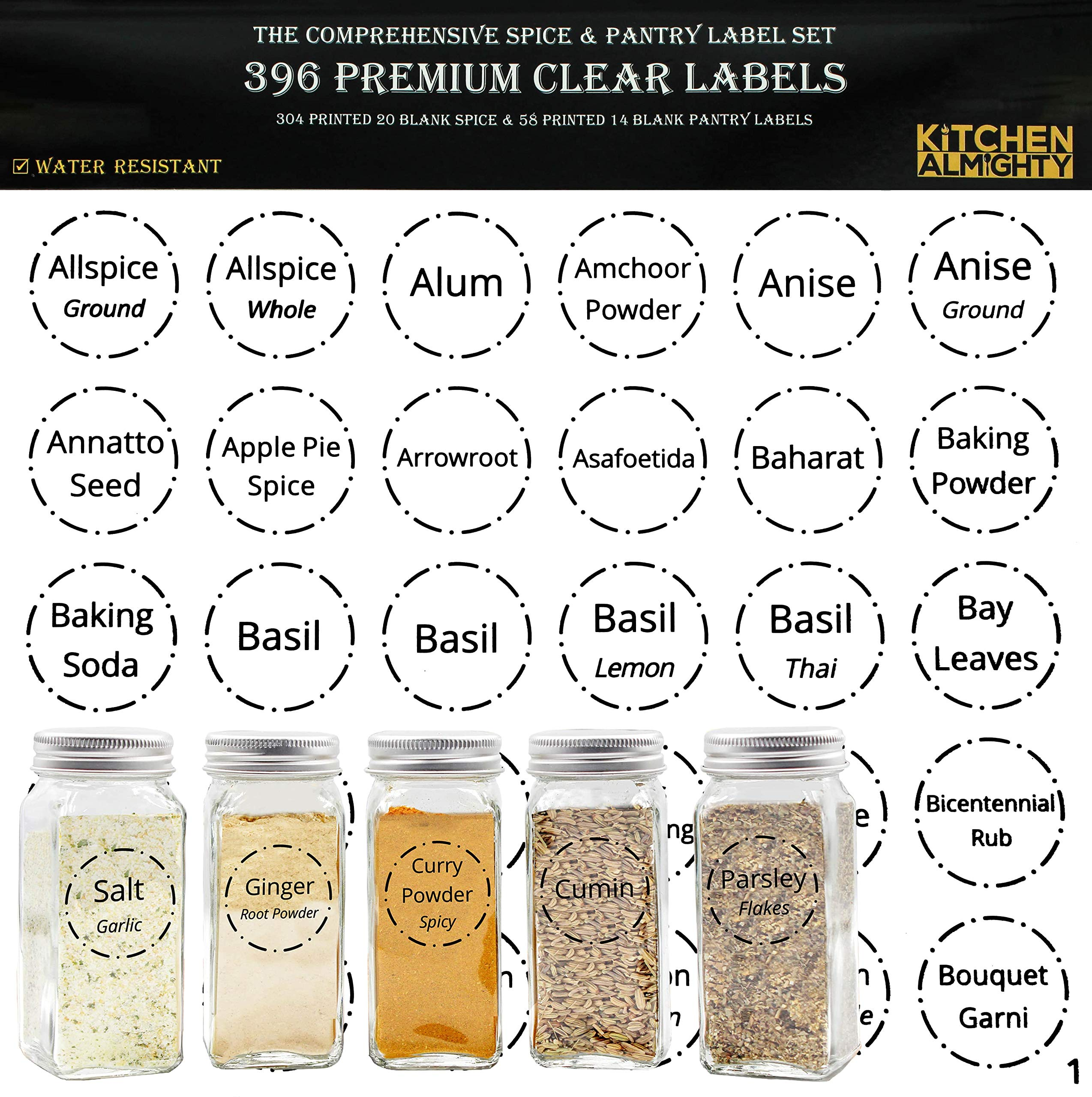 274 Stickers Spice Herb Storage Jar Labels Stickers Decal Pantry Labels Sticker