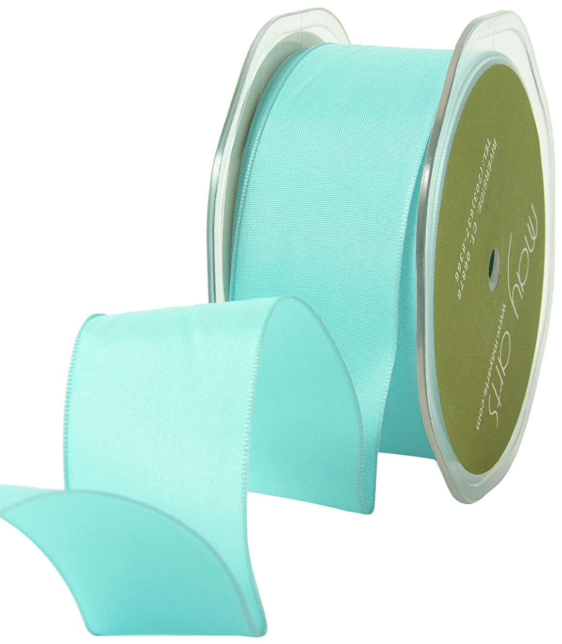 May Arts 1-1/2-Inch Wide Ribbon, Turquoise Solid