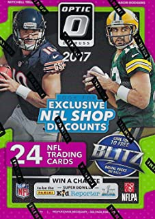 2017 Donruss OPTIC Football Factory Sealed Blaster Box of Packs with Possible Prime Memorabilia Jerseys, Numbered Parallels and more