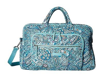 Vera Bradley Iconic Compact Weekender Travel Bag (Daisy Dot Paisley) Weekender/Overnight Luggage