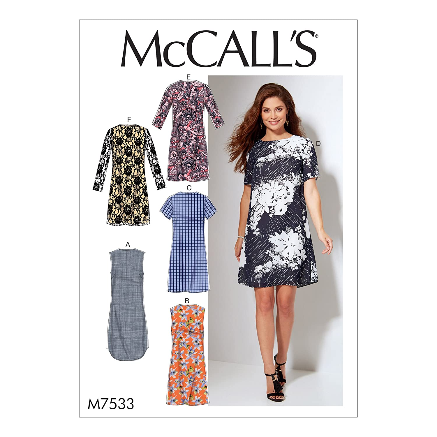 McCall's Patterns M7533RR0 Misses'/Women's Fitted Sheath Dresses Sewing Pattern, 18W-20W-22W-24W