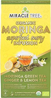 Miracle Tree's Energizing Moringa Infusion - Green Tea, Ginger & Lemon | Super Caffeinated Blend | Healthy Coffee Alternat...