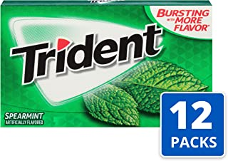 Trident Spearmint Flavor Sugar Free Gum—12 Packs (168 Pieces Total) Packaging May Vary