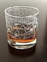 Rocks Whiskey Old Fashioned 11oz Glass Urban City Map The Bourbon Trail