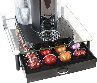 DecoBros Support de tiroir en verre trempé Nespresso Vertuoline pour capsules