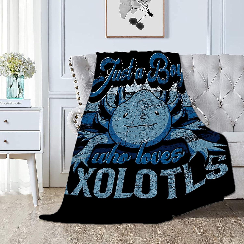 Smier Direct Just A Boy Who Axolotls Bl Flannel Rapid rise Comfy Soft Loves Import
