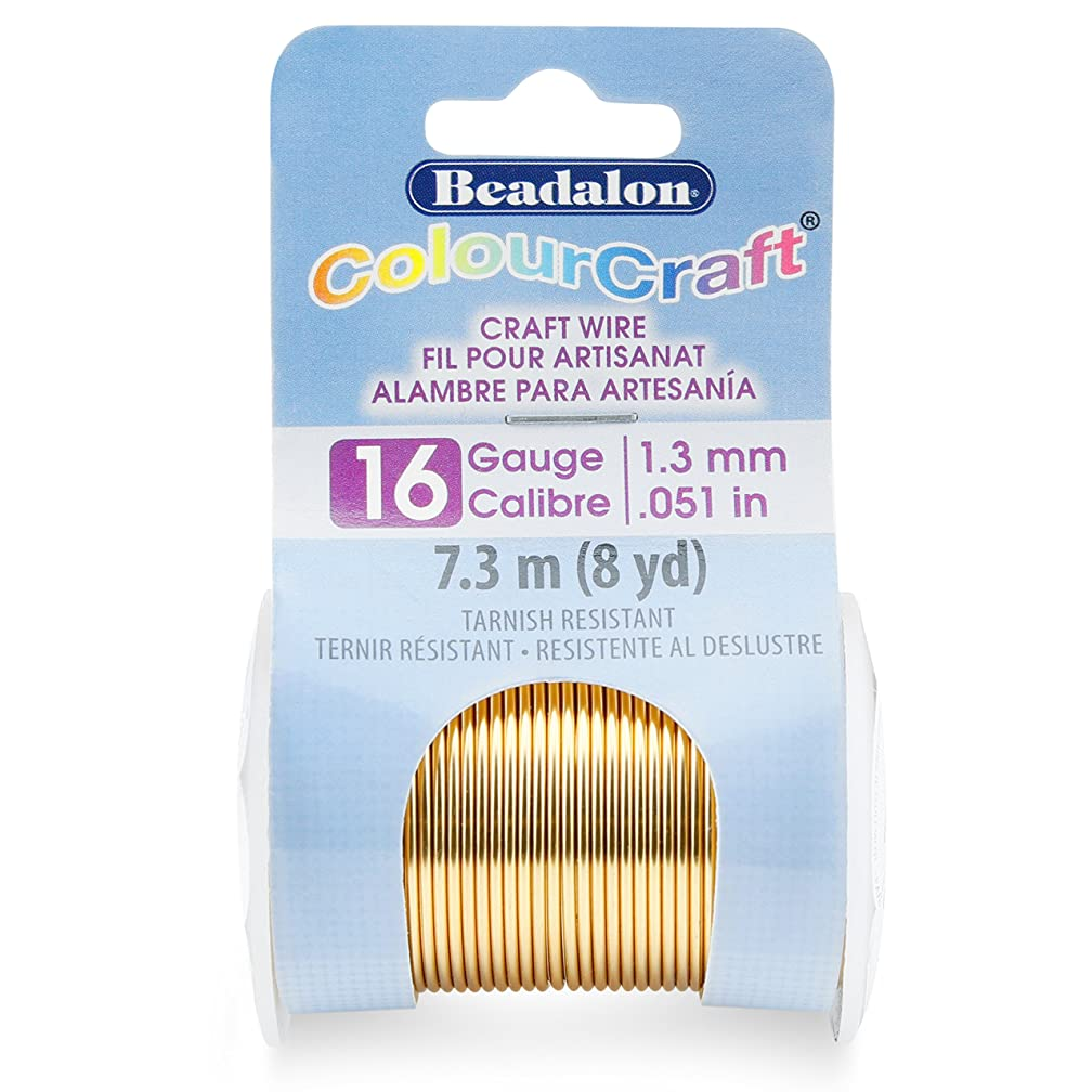 Beadalon 185R-016 ColourCraft Wire 16ga Light Brass,