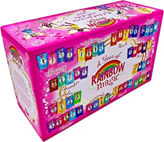 A Year of Rainbow Magic 52 Books Collection Box Set by Daisy Meadows (Rainbow Fairies, Weather, Party, Jewel, School Days,...