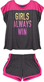 Cheetah Girls 'Girls Always Win' Graphic Color Block T-Shirt and Shorts Gym Set