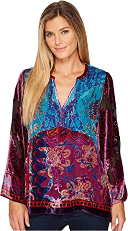 Hale Bob - Creative License Silk with Burnout Velvet Top