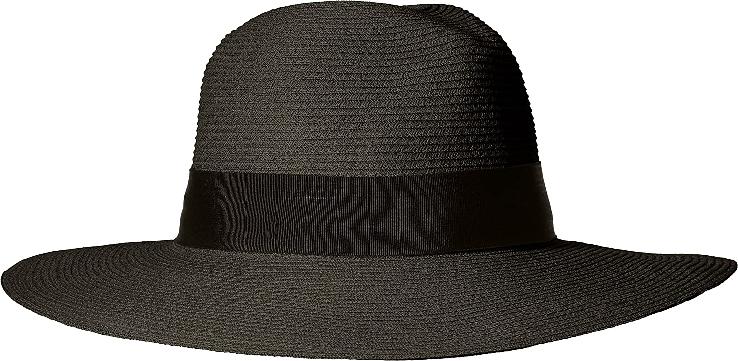 'ale by alessandra Womens Terranea Toyo Fedora with Ribbon Trim and Rated UPF 50+ Hat
