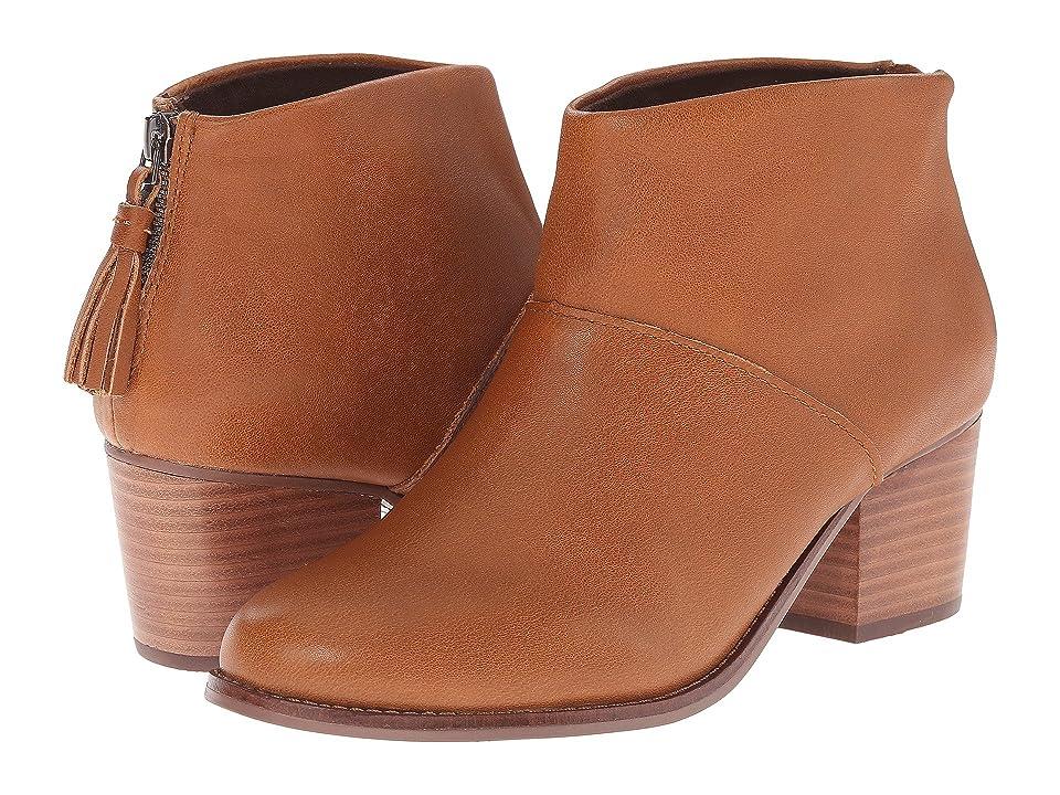 TOMS Leila Bootie (Warm Tan Leather) Women