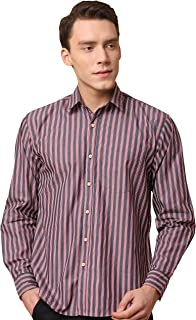 GHPC Striped 100% Cotton Full Sleeves Slim Fit Casual Shirt for Men