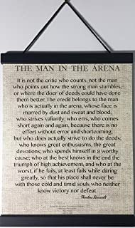 Desiderata Gallery Brand, 11x14 Words of Wisdom by Theodore Roosevelt - The Man in The Arena, with Magnetic Frame