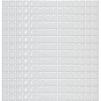 【 Dream Sticker 】 モザイクタイルシール キッチン 洗面所 トイレの模様替えに最適のDIY 壁紙デコレーション BST-11 (スノー, 1枚)