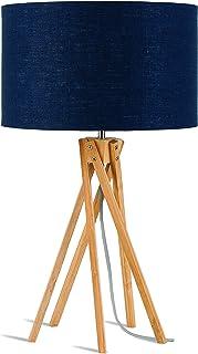 GOOD&MOJO KILIMANJARO Lampe à poser, Bambou, E27, 40 W, Bleu Jean