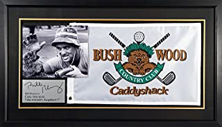 Caddyshack Flag Display Feat. Bill Murray (SG Signature Engraved Plate Series) Framed