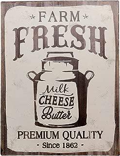 Barnyard Designs Farm Fresh Milk Cheese Butter Retro Vintage Tin Bar Sign Country Home Decor 10