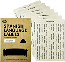 648 Spanish / English language stickers from Word Labels. Learn Spanish at Home with the Best Value Vocabulary Stickers for your Home and Office.