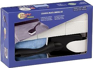 Cleaning Block 10030EI Bloques para Limpieza de Planchas de Cocina, con Mango y Bayeta Microfibra, 6 Piezas