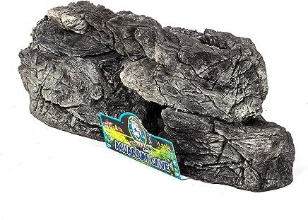 Jungle Bob 8090 Cueva para Reptiles de Acuario, Grande, Color Gris