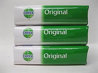Dettol Original Anti-bacterial Hand & Body Bar Soap 100gr=3.4oz Each (3-bars)