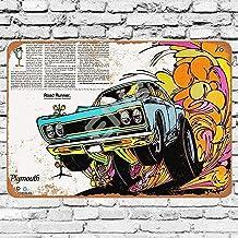 Ellis 1968 Plymouth Road Runner Cartel de Metal Retro para decoración de Pared, para el hogar, Garaje, Bar, Bares, Bares, etc.