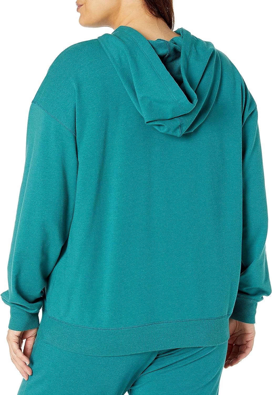 The Drop Women's Remi Loose French Terry Long Sleeve Hoodie Sweatshirt