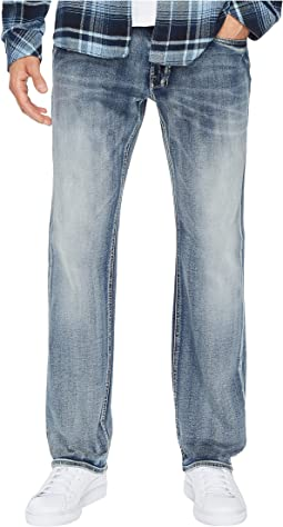 Buffalo David Bitton Six-X Straight Leg Jeans in Sanded and Faded