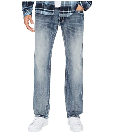 Buffalo David Bitton Six-X Straight Leg Jeans in Sanded and Faded (Sanded and Faded) Men