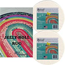 Jelly Roll Rug Kit Bundle, Including Pattern and Two (2) Rolls of Bosal Katahdin Batting On-A-Roll