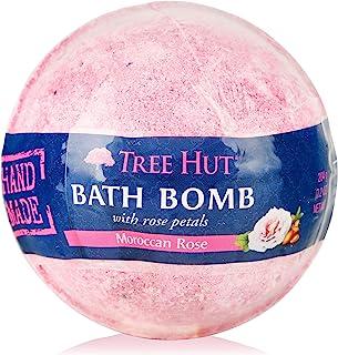 Tree Hut Shea Moisturizing Bath Bomb Moroccan Rose, 7.2oz, Ultra Hydrating Bath Bomb for Nourishing Essential Body Care