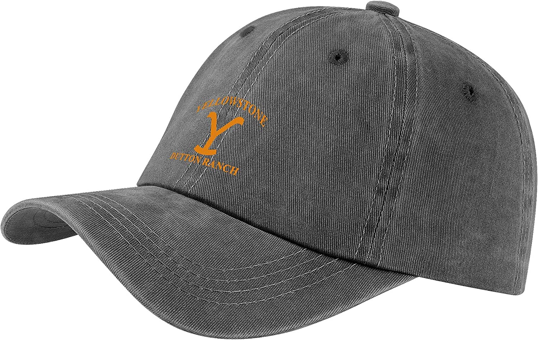 Unisex Vintage Cowboy Hat Adjustable Vintage 100% Washed Cotton Baseball Cap for Men Women Black