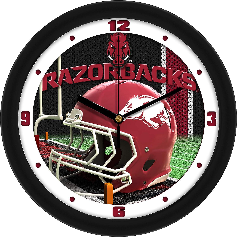 SunTime Arkansas Razorbacks - Clock Super sale Tulsa Mall period limited Wall Football Helmet