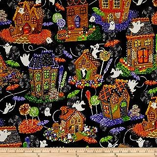 RJR Fashion Fabrics Spooky Snacks Halloween Gingerbread Houses, Midnight