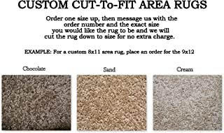 Custom Cut-to-Fit Area Rugs. Multiple Colors to Choose from. Great for Homes, Apartments or Dorm Rooms. Click for More Details on Custom Sizing Your Rug (5'x8', Chocolate)