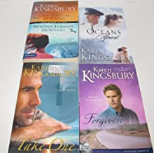 Author Karen Kingsbury Four Book Bundle Set, Includes: One Tuesday Morning and Beyond Tuesday Morning (Based on the tragedy of Twin Towers) - Take One (Above The Line Series) -Forgiven (#2 of the Firstborn Series) - Oceans Apart (One Tuesday Morning)